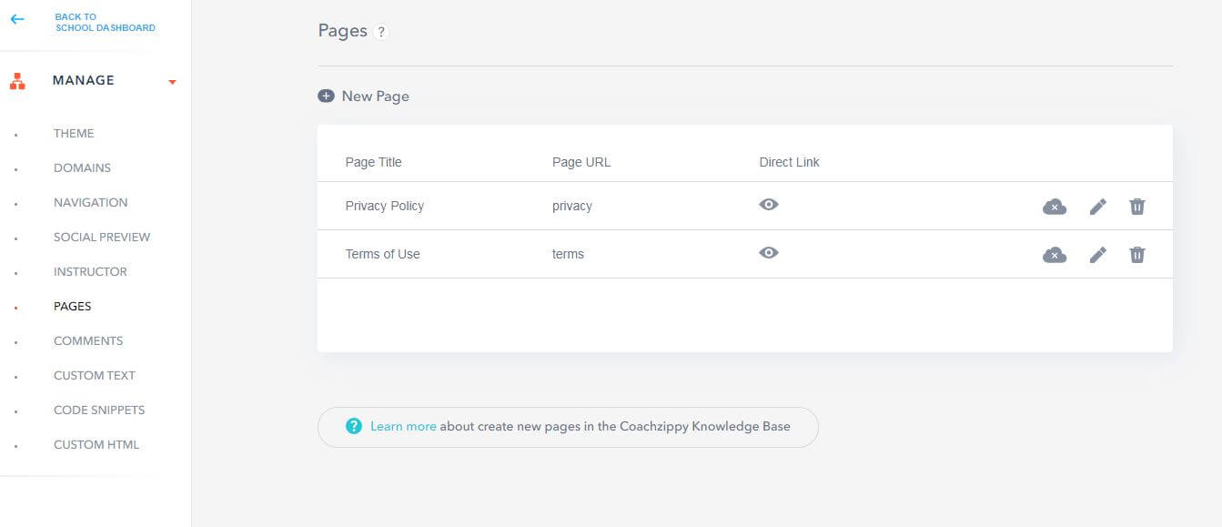 CoachZippy Review - Dashboard Manage Page