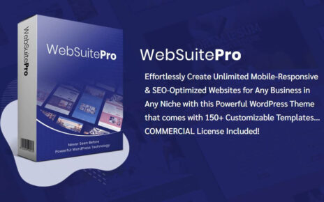 WebSuite Pro Review- WebSuite Pro is a Powerful WordPress Theme that allows you effortlessly creating Unlimited Mobile-Responsive and SEO-Optimized Websites for Any Business in Any Niche