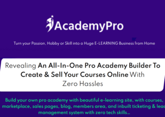 Academy Pro Review - Online Course Creation Software How to make money from selling courses