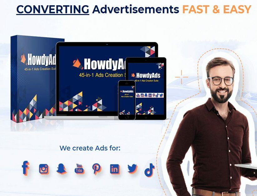 HowdyAds Review - Best 45-1 Online Design Tool Website For Social Media Ads
